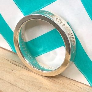 TC055 Tiffany Sterling Silver T & Co 1837 ring